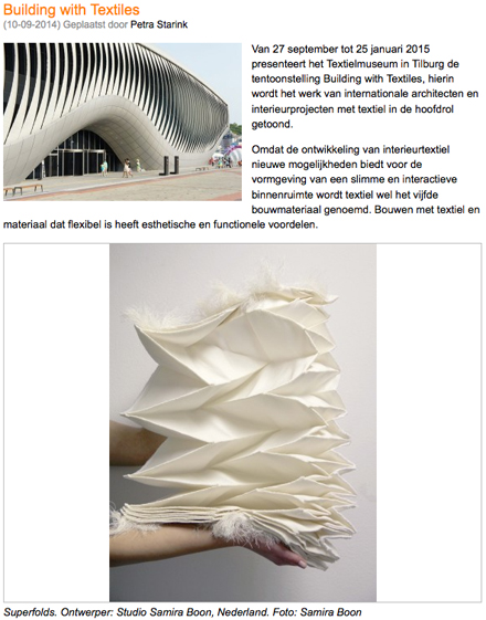 ArchitectuurNL Building with Textiles